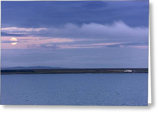 Water And Dark Clouds Greeting Card by John Short