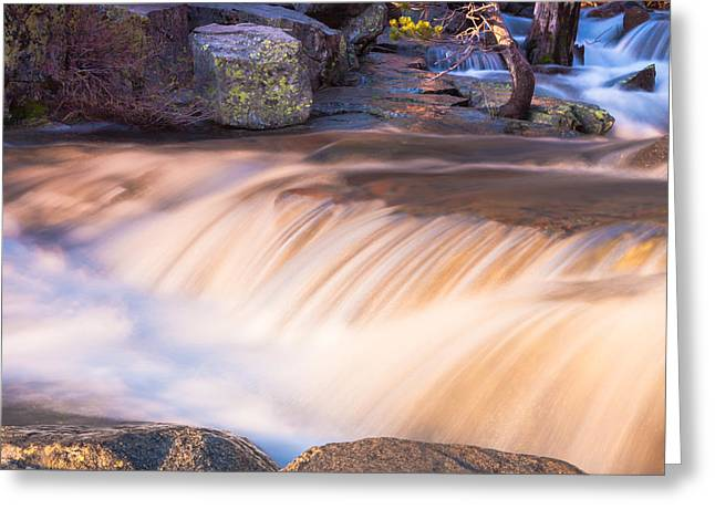 Water And Rocks Greeting Card by Marc Crumpler