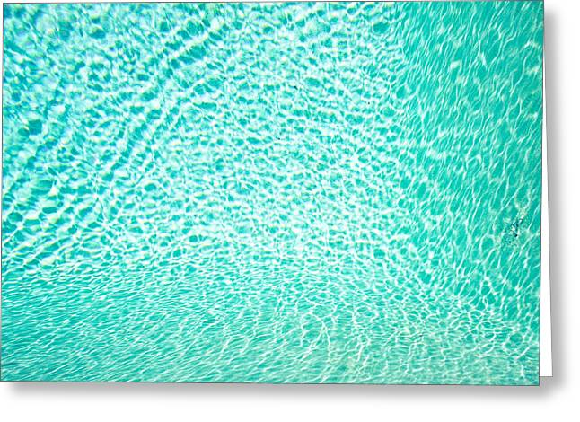 Water Background Greeting Card by Tom Gowanlock