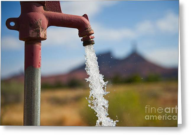 Water Coming From Faucet Greeting Card by Thom Gourley/Flatbread Images, LLC