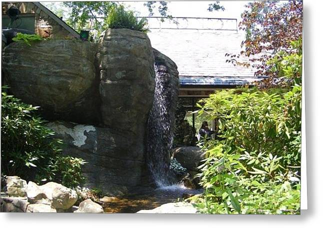 Water Fall At Rock City Gardens Greeting Card by Clare Staplehurst