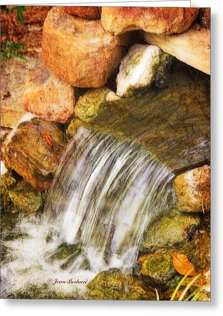 Greeting Card featuring the photograph Water Fall by Joan Bertucci