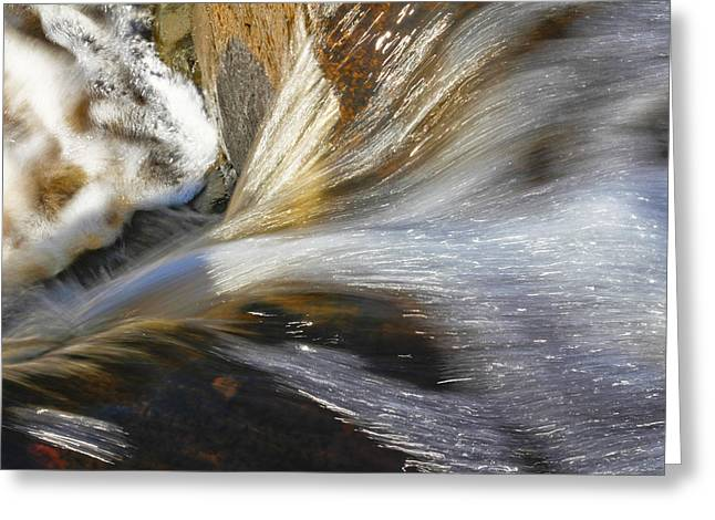 Water In Motion Greeting Card by Wayne Stabnaw