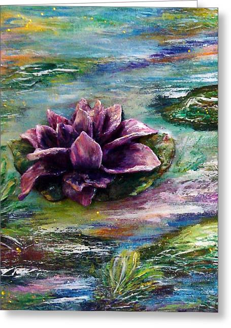 Water Lilies - Two Pieces Greeting Card