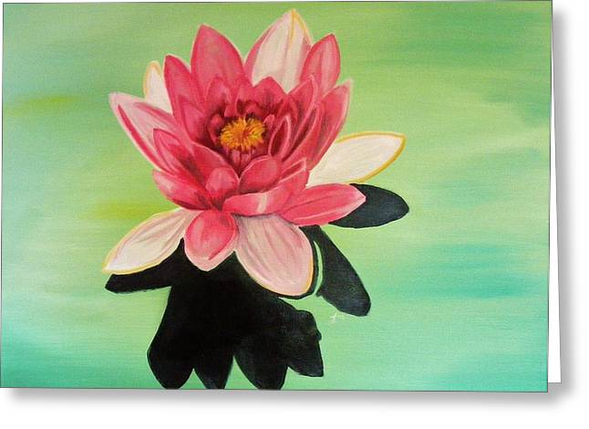 Water Lily Greeting Card by Laura Evans