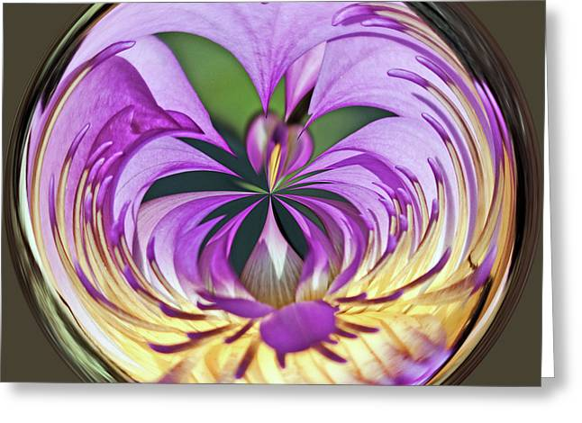 Water Lily Orb Greeting Card