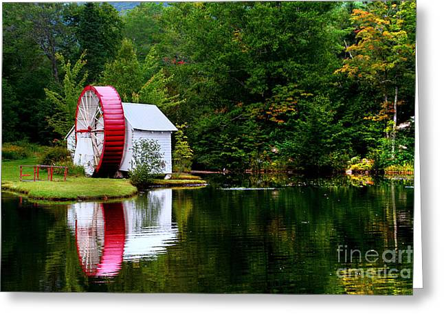 Water Mill Greeting Card by Adrian LaRoque