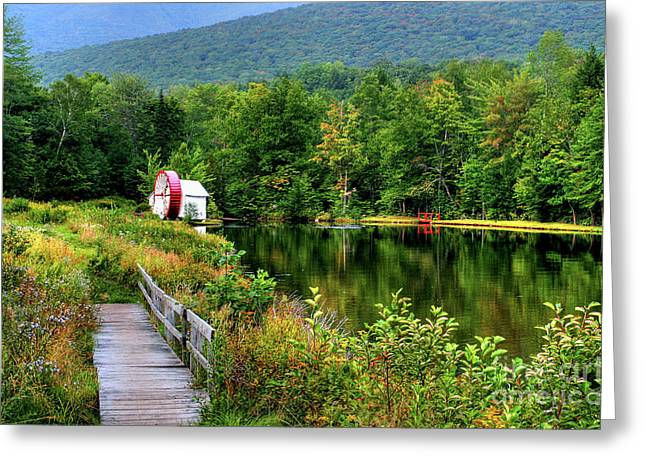 Greeting Card featuring the photograph Water Mill II by Adrian LaRoque