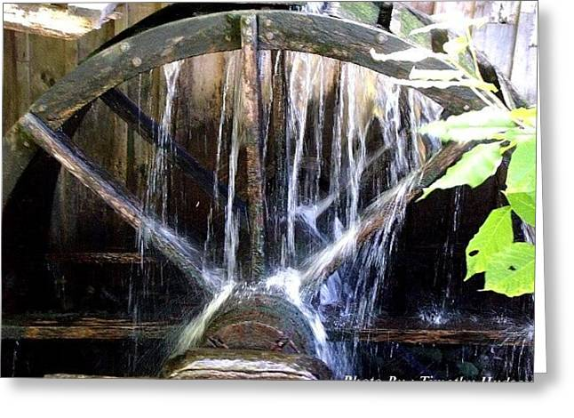Water Mill Wheel Greeting Card by Timothy Hudson