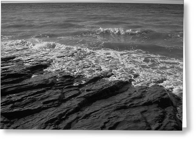 Water On The Rocks Greeting Card