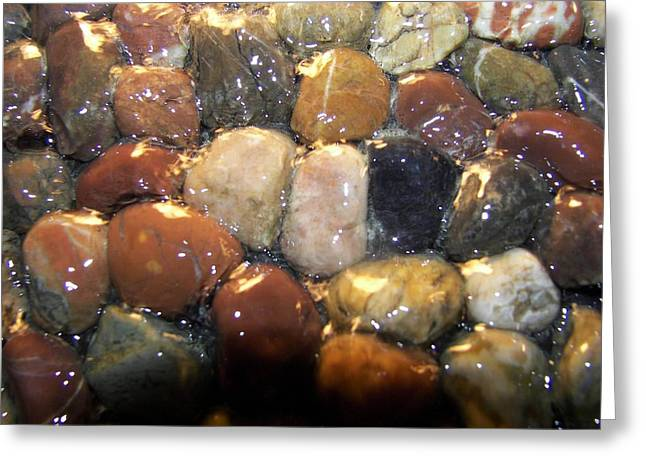 Greeting Card featuring the photograph Water Over River Rock I by Carolyn Repka