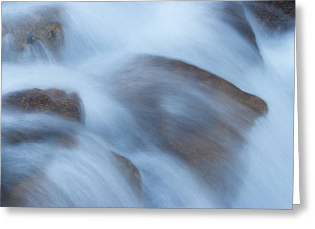 Water Over Rocks Greeting Card by Maureen Bates