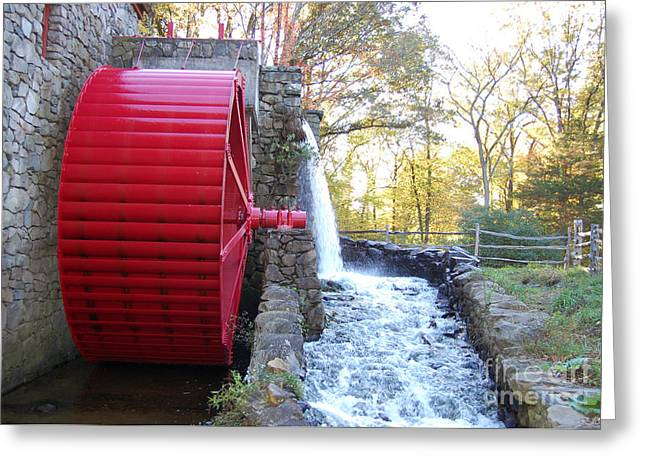 Water Powered Grist Mill Wheel Greeting Card by John Small