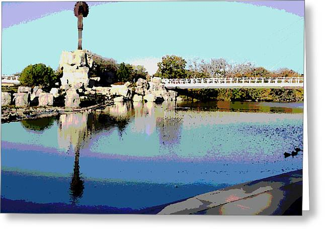 Water Reflection Greeting Card by David Alvarez