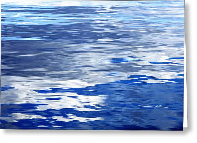 Calm Blue Water With Shades Of Grey Greeting Card by Skip Nall