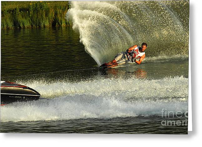 Water Skiing Magic Of Water 33 Greeting Card by Bob Christopher