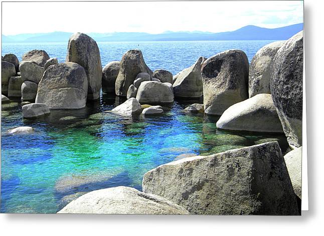 Water Stonehenge Lake Tahoe Greeting Card by Frank Wilson