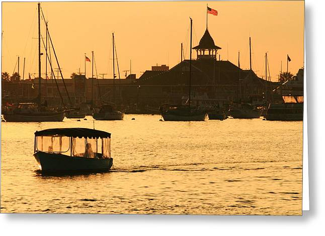 Greeting Card featuring the photograph Water Taxi by Coby Cooper