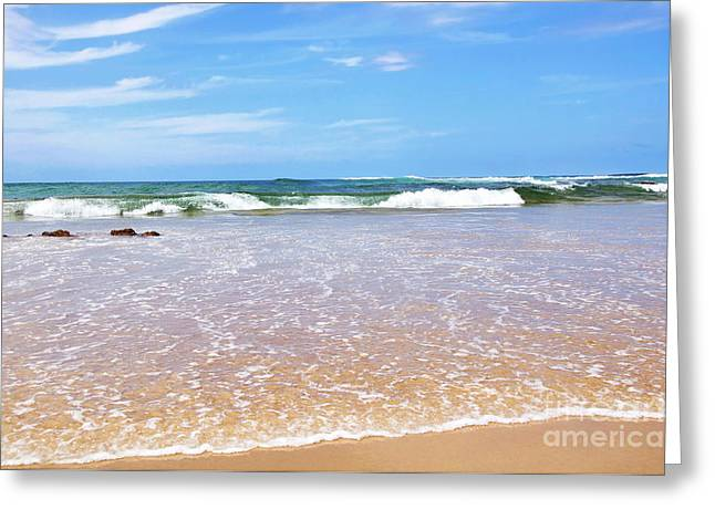 Water To Waves Greeting Card by Kaye Menner