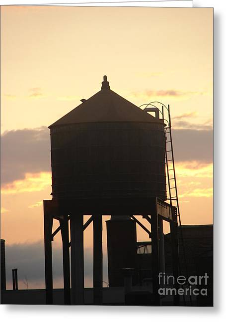 Water Tower At Sunset Greeting Card by Artie Wallace