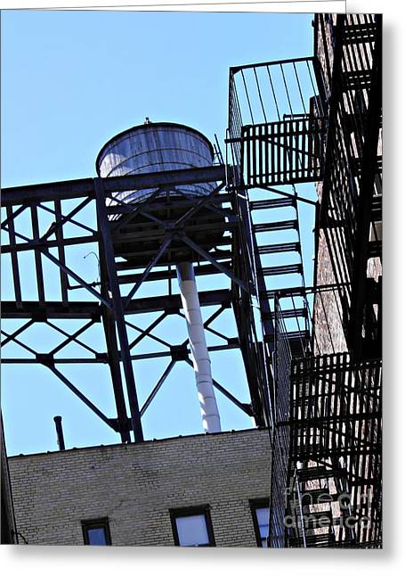 Water Tower In The Heights Greeting Card by Sarah Loft