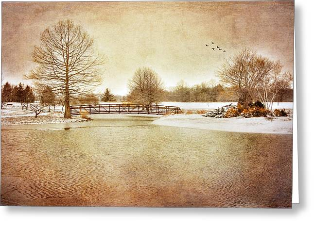 Greeting Card featuring the photograph Water Under The Bridge by Mary Timman