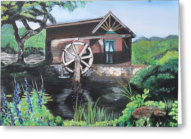 Water Wheel Greeting Card by Melissa Torres