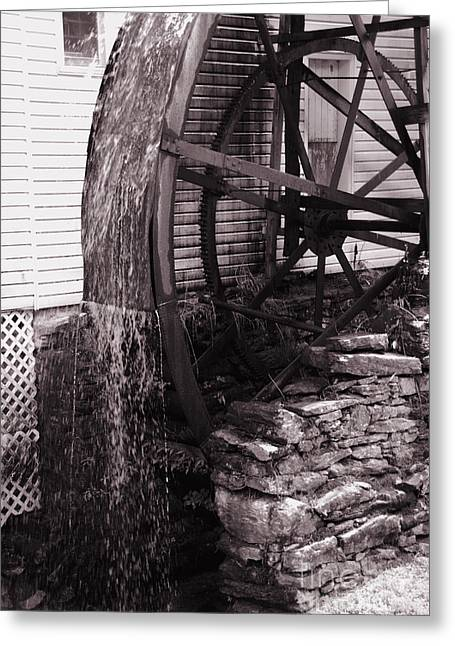 Water Wheel Old Mill Cherokee North Carolina  Greeting Card by Susanne Van Hulst