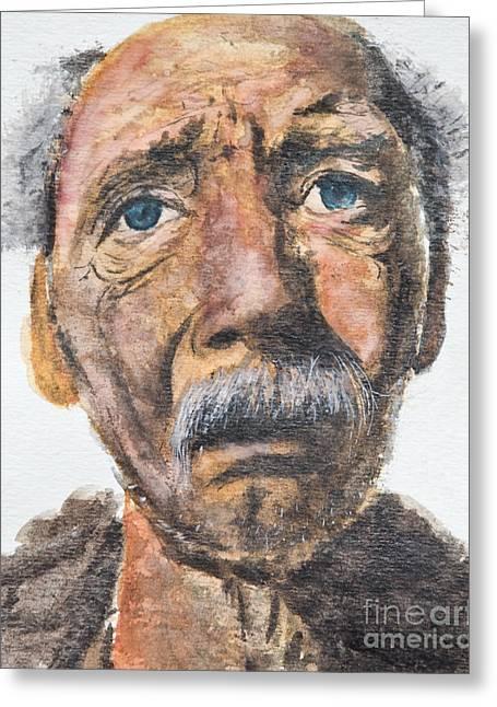Watercolor Old Man Greeting Card