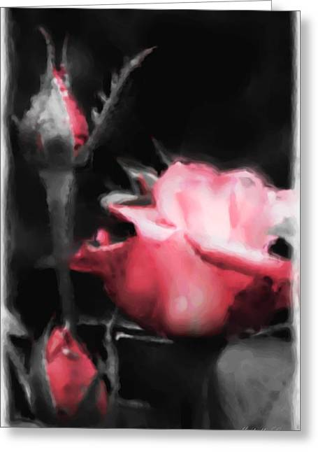 Watercolor Rose Greeting Card by Michelle Joseph-Long