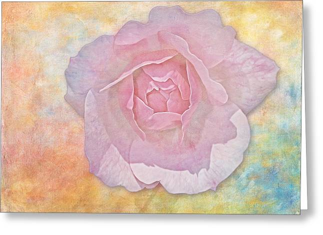 Watercolor Rose Greeting Card by Susan Candelario