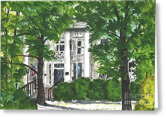 Watercolor Sketch Of Burt-stark Mansion Greeting Card