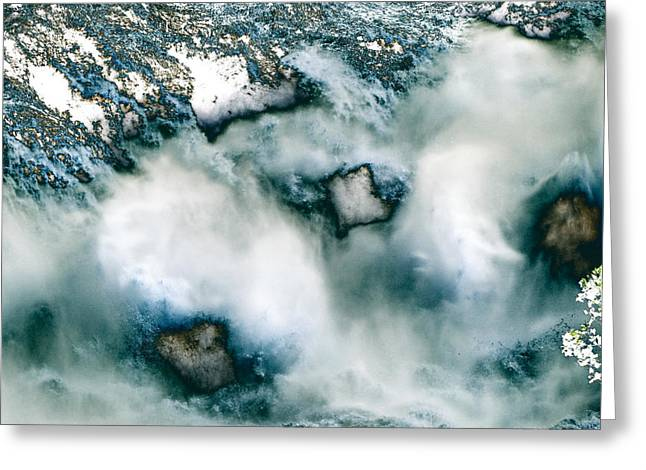 Waterfall 3 Greeting Card by Valerie Wolf