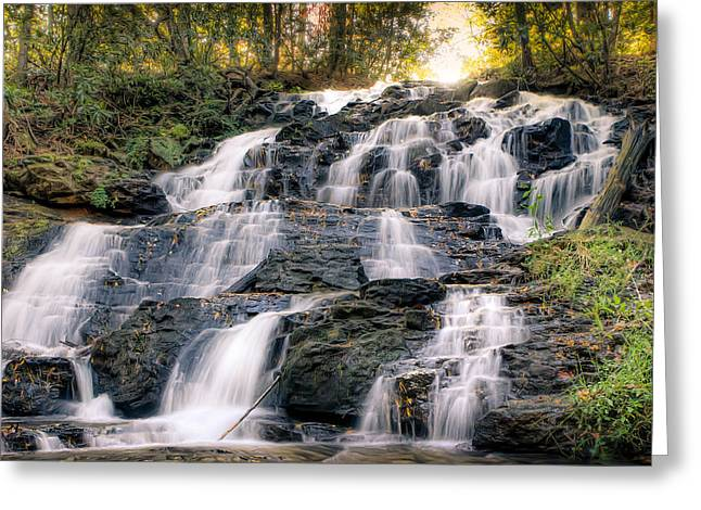 Greeting Card featuring the photograph Waterfall by Anna Rumiantseva