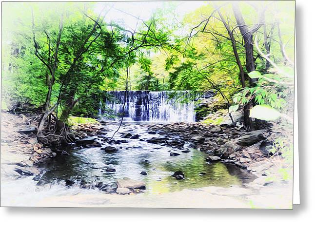 Waterfall At Gladwynn Greeting Card