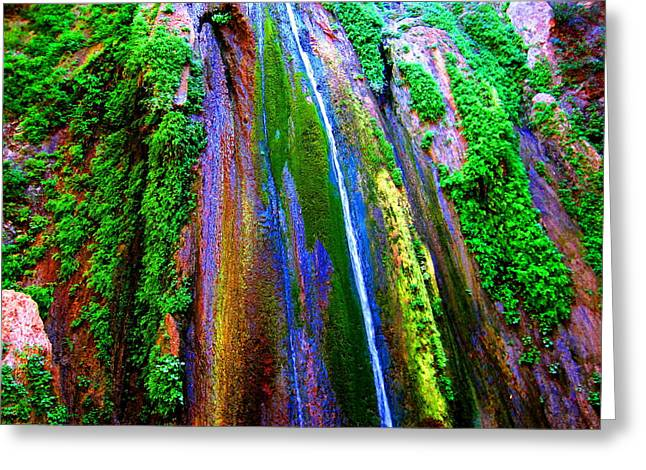 Waterfall  Greeting Card by Catherine Natalia  Roche