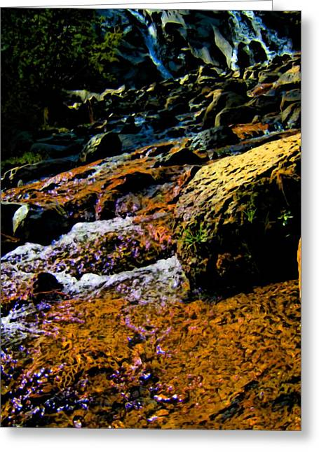 Waterfall  Greeting Card by Howard Perry