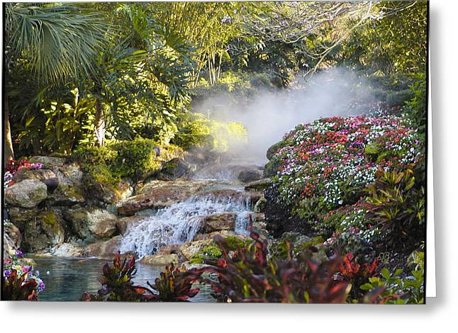 Waterfall In The Mist Greeting Card