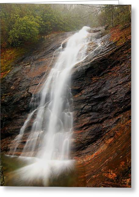 Greeting Card featuring the photograph Waterfall In Wash Hollow by Doug McPherson