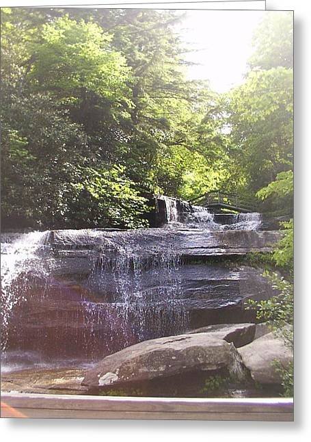 Greeting Card featuring the photograph Waterfall by Kelly Hazel