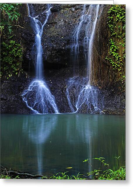 Greeting Card featuring the photograph Waterfall- Micoud- St Lucia by Chester Williams