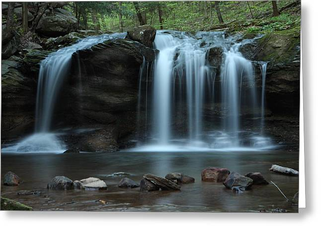 Greeting Card featuring the photograph Waterfall On Flat Fork by Daniel Reed