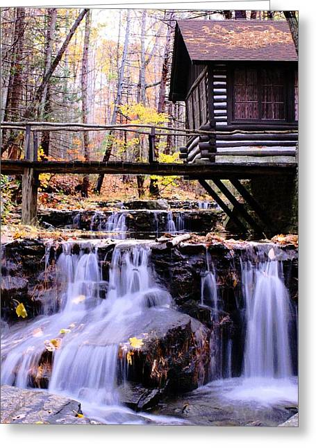 Waterfall On Friends Creek B  Greeting Card by L Granville Laird