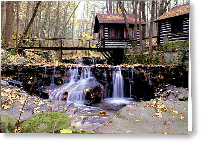 Waterfall On Friends Creek Greeting Card by L Granville Laird