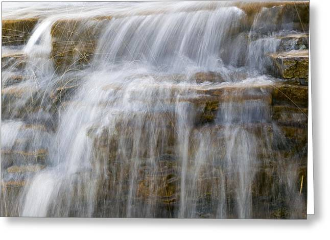 Clean Water Greeting Cards - Waterfall Sparkles Glacier National Park Greeting Card by Rich Franco