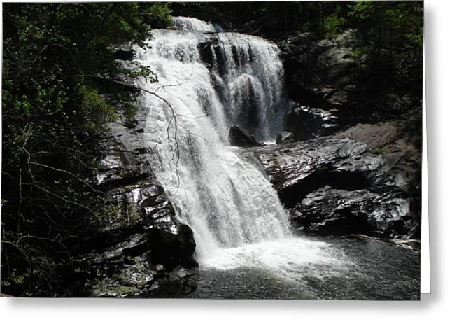 Waterfall Greeting Card by Val Oconnor