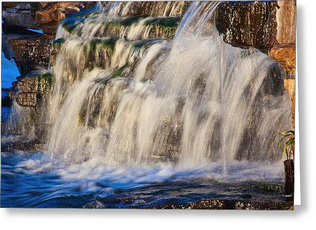 Greeting Card featuring the photograph Waterfalls by Josef Pittner