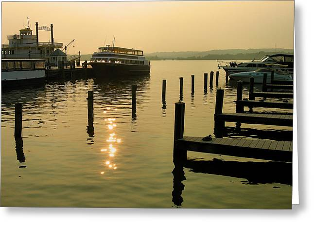 Waterfront Docks Greeting Card by Steven Ainsworth