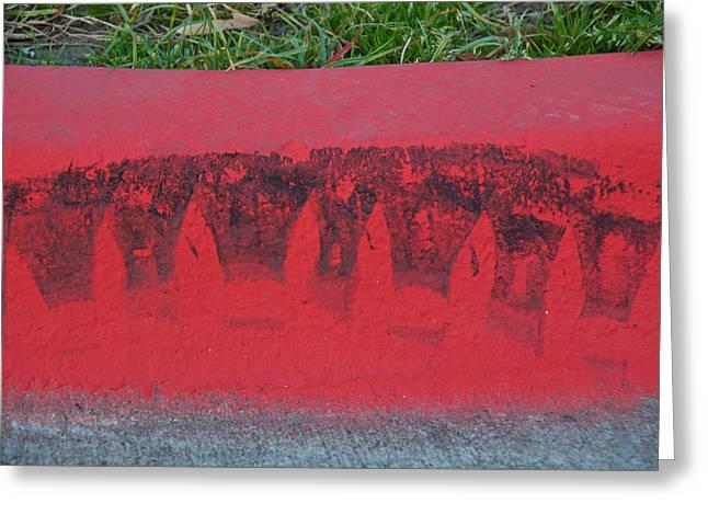 Watermelon Curb Greeting Card by David Clanton