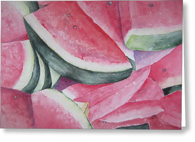 Watermelon Feast Greeting Card
